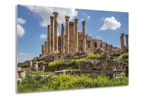 Jordan, Jerash. the Ruins of the Great Temple of Zeus in the Ancient Roman City of Jerash.-Nigel Pavitt-Metal Print