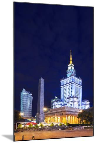 Europe, Poland, Warsaw, Palace of Culture and Science-Christian Kober-Mounted Photographic Print