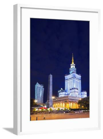 Europe, Poland, Warsaw, Palace of Culture and Science-Christian Kober-Framed Art Print