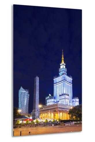 Europe, Poland, Warsaw, Palace of Culture and Science-Christian Kober-Metal Print