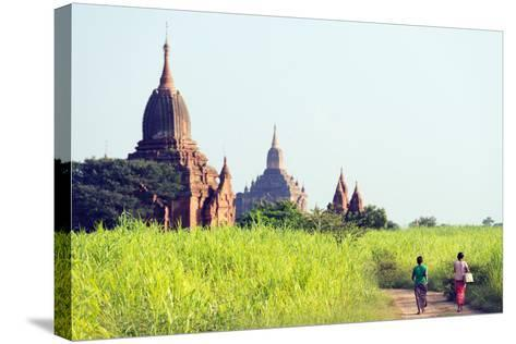South East Asia, Myanmar, Bagan, Temples on Bagan Plain-Christian Kober-Stretched Canvas Print