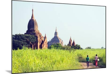 South East Asia, Myanmar, Bagan, Temples on Bagan Plain-Christian Kober-Mounted Photographic Print