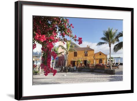 Restaurant Taberna Del Puerto, Puerto De Tazacorte, La Palma, Canary Islands, Spain, Europe-Markus Lange-Framed Art Print