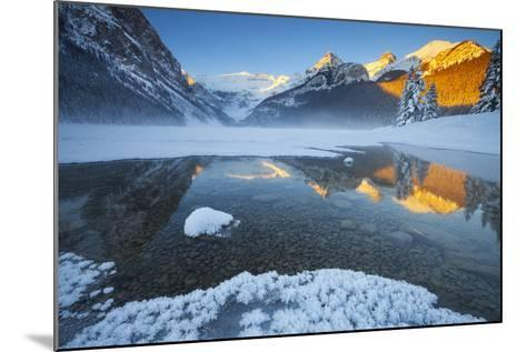 Lake Louise at Sunrise in Winter, Banff National Park, Alberta, Canada, North America-Miles Ertman-Mounted Photographic Print