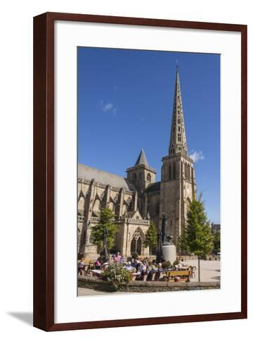 Saint Tugdual Cathedral, Treguier, Cotes D'Armor, Brittany, France, Europe-Guy Thouvenin-Framed Art Print