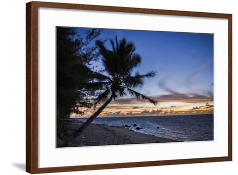 Beach Outside Rumours Luxury Villas 6 and 7, Muri, Rarotonga, Cook Islands, South Pacific, Pacific-Matthew Williams-Ellis-Framed Art Print