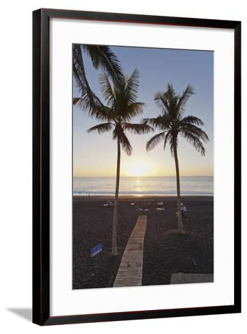 Beach of Puerto Naos at Sunset, La Palma, Canary Islands, Spain, Atlantic, Europe-Markus Lange-Framed Art Print