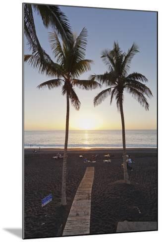 Beach of Puerto Naos at Sunset, La Palma, Canary Islands, Spain, Atlantic, Europe-Markus Lange-Mounted Photographic Print
