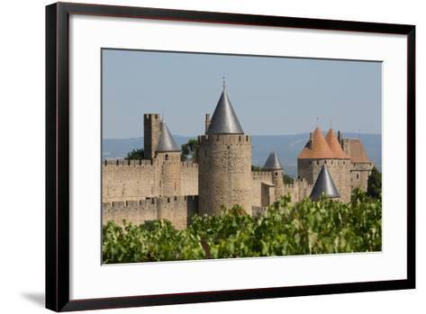 The Medieval Walled Town of Carcassonne, Languedoc-Roussillon, France, Europe-Martin Child-Framed Art Print