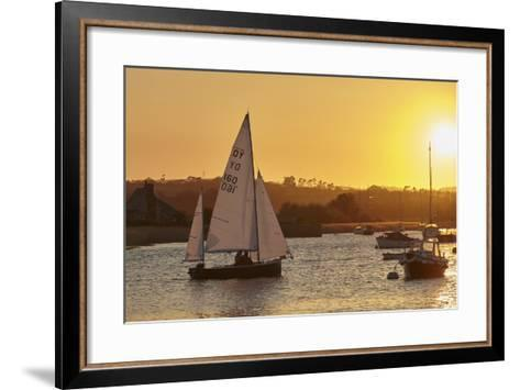 A Sunset View of Sailing on the River Exe at Topsham, Near Exeter, Devon, England, United Kingdom-Nigel Hicks-Framed Art Print
