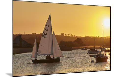 A Sunset View of Sailing on the River Exe at Topsham, Near Exeter, Devon, England, United Kingdom-Nigel Hicks-Mounted Photographic Print