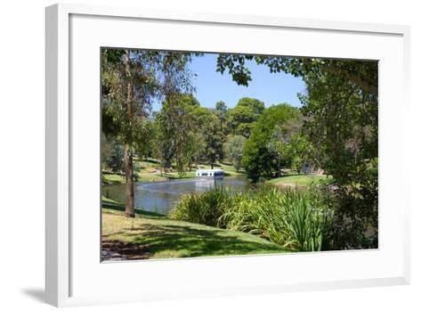River Torrens and 'Popeye' Boat, Adelaide, South Australia, Oceania-Frank Fell-Framed Art Print
