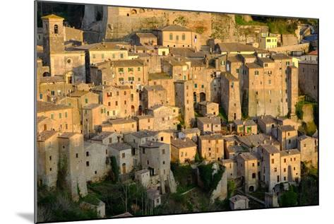 View of Sorano Seen from Etruscan Rock Settlement of San Rocco, Maremma, Grosseto, Tuscany, Italy-Carlo Morucchio-Mounted Photographic Print