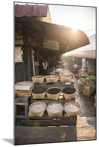 Kalaw Market at Sunrise, Shan State, Myanmar (Burma), Asia-Matthew Williams-Ellis-Mounted Photographic Print