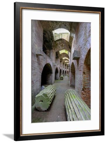 The Underground of the Flavian Amphitheater, Pozzuoli, Naples-Carlo Morucchio-Framed Art Print