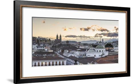 Old City of Quito, Historic Centre, Showing La Basilica Church, Ecuador, South America-Matthew Williams-Ellis-Framed Art Print