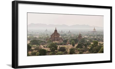 Bagan (Pagan) Buddhist Temples and Ancient City, Myanmar (Burma), Asia-Matthew Williams-Ellis-Framed Art Print