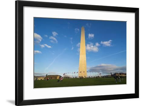 Obelisk of the Washington Monument at the Mall, Washington, District of Columbia, U.S.A.-Michael Runkel-Framed Art Print