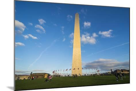 Obelisk of the Washington Monument at the Mall, Washington, District of Columbia, U.S.A.-Michael Runkel-Mounted Photographic Print