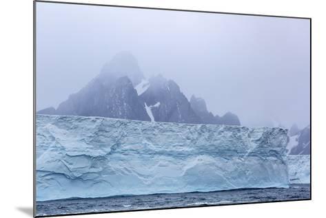 Huge Tabular Icebergs Broken Off from B-17A Iceberg Near Cooper Bay, Polar Regions-Michael Nolan-Mounted Photographic Print