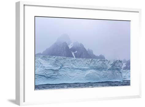 Huge Tabular Icebergs Broken Off from B-17A Iceberg Near Cooper Bay, Polar Regions-Michael Nolan-Framed Art Print