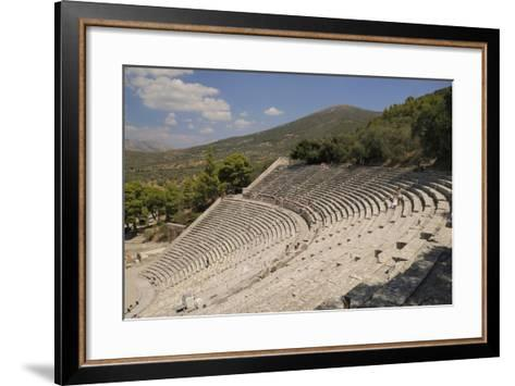 Ancient Theatre of Epidaurus (Epidavros), Argolis, Peloponnese, Greece, Europe-Nick Upton-Framed Art Print