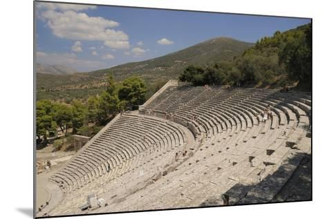 Ancient Theatre of Epidaurus (Epidavros), Argolis, Peloponnese, Greece, Europe-Nick Upton-Mounted Photographic Print
