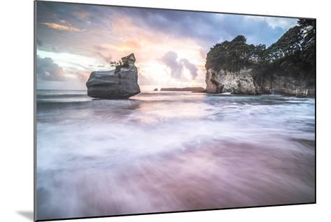 Cathedral Cove at Sunrise, Coromandel Peninsula, North Island, New Zealand, Pacific-Matthew Williams-Ellis-Mounted Photographic Print