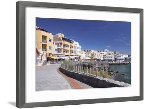Promenade at the Port, Los Abrigos, Tenerife, Canary Islands, Spain, Atlantic, Europe-Markus Lange-Framed Art Print
