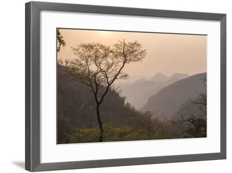 Sunset Landscape Near Pyin Oo Lwin (Pyin U Lwin), Mandalay Region, Myanmar (Burma), Asia-Matthew Williams-Ellis-Framed Art Print