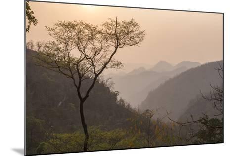 Sunset Landscape Near Pyin Oo Lwin (Pyin U Lwin), Mandalay Region, Myanmar (Burma), Asia-Matthew Williams-Ellis-Mounted Photographic Print