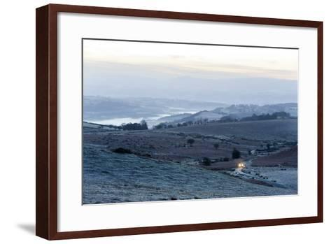 A View at Sunrise Towards the Brecon Beacons National Park, Powys, Wales, United Kingdom, Europe-Graham Lawrence-Framed Art Print