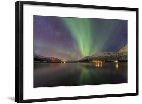The Northern Lights Illuminates the Icy Sea, Troms-Roberto Moiola-Framed Art Print