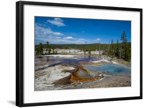 Firehole Spring, Yellowstone National Park, Wyoming, United States of America, North America-Michael DeFreitas-Framed Art Print