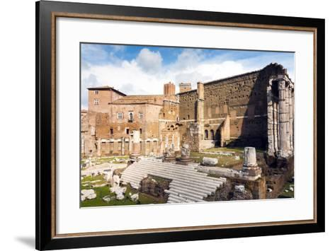 Remains of Forum of Augustus with the Temple of Mars Ultor, Rome, Latium, Italy, Europe-Nico Tondini-Framed Art Print