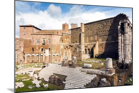 Remains of Forum of Augustus with the Temple of Mars Ultor, Rome, Latium, Italy, Europe-Nico Tondini-Mounted Photographic Print