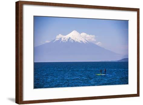 Paddleboarding on Llanquihue Lake-Matthew Williams-Ellis-Framed Art Print