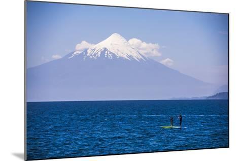 Paddleboarding on Llanquihue Lake-Matthew Williams-Ellis-Mounted Photographic Print