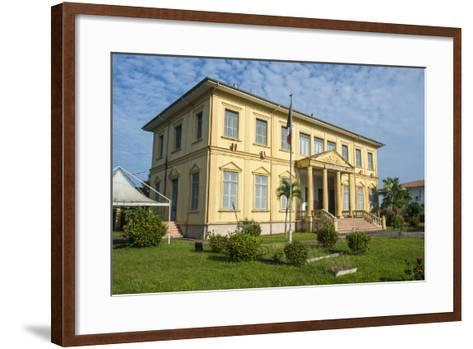 Old Colonial Buildings in Saint Laurent Du Maroni, French Guiana, Department of France-Michael Runkel-Framed Art Print