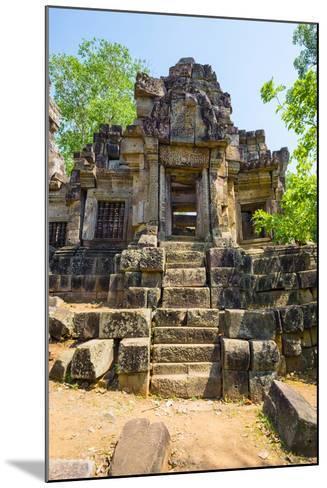 Wat Ek Phnom Temple Ruins, Battambang Province, Cambodia, Indochina, Southeast Asia, Asia-Jason Langley-Mounted Photographic Print