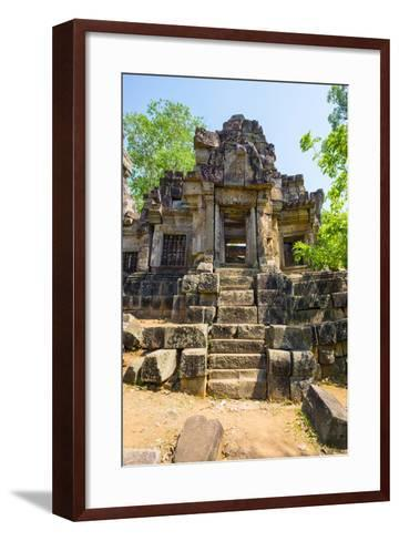 Wat Ek Phnom Temple Ruins, Battambang Province, Cambodia, Indochina, Southeast Asia, Asia-Jason Langley-Framed Art Print