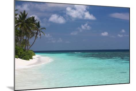 Tropical Island and Lagoon, Maldives, Indian Ocean, Asia-Sakis Papadopoulos-Mounted Photographic Print