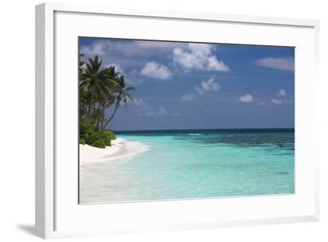 Tropical Island and Lagoon, Maldives, Indian Ocean, Asia-Sakis Papadopoulos-Framed Art Print