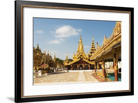 Shwezigon Pagoda, Bagan (Pagan), Myanmar (Burma), Asia-Jordan Banks-Framed Art Print
