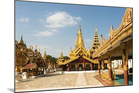 Shwezigon Pagoda, Bagan (Pagan), Myanmar (Burma), Asia-Jordan Banks-Mounted Photographic Print
