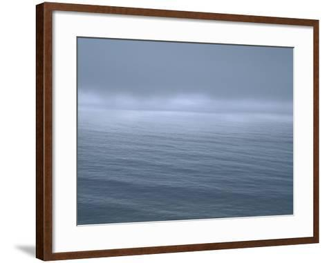 Gloomy Low Clouds over the Pacific Ocean Along the Northern California Coast--Framed Art Print