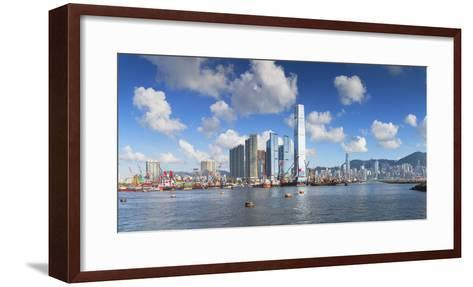 International Commerce Centre (Icc) and Hong Kong Island Skyline, Hong Kong, China, Asia-Ian Trower-Framed Art Print