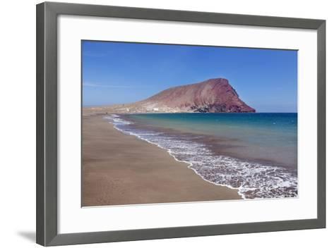 La Montana Roja Rock and Playa De La Tejita Beach, Spain-Markus Lange-Framed Art Print