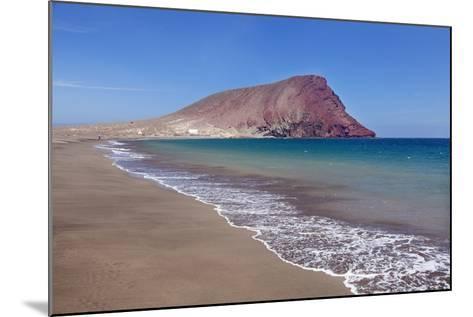 La Montana Roja Rock and Playa De La Tejita Beach, Spain-Markus Lange-Mounted Photographic Print