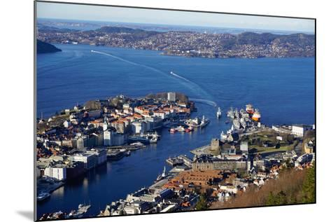 View of Bergen from Mount Floyen, Bergen, Hordaland, Norway, Scandinavia, Europe-Robert Harding-Mounted Photographic Print
